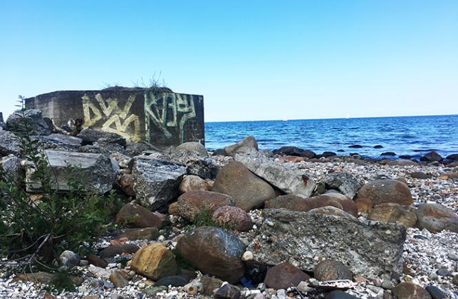 Øde strand ved Hornbæk