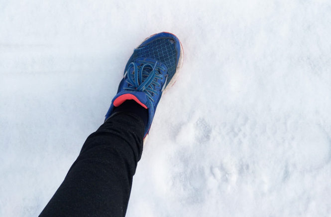 løbesko i sne