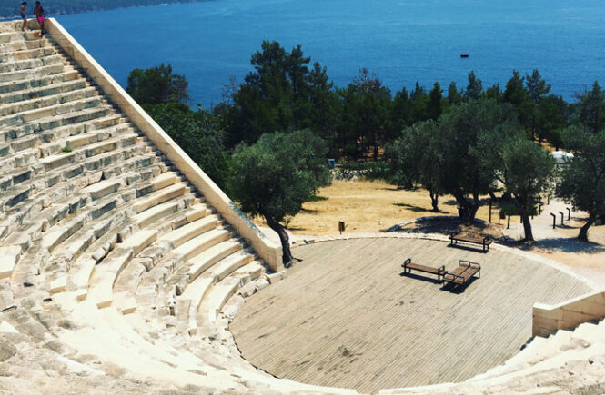Antiphellos amfiteater kas vender ud mod havet