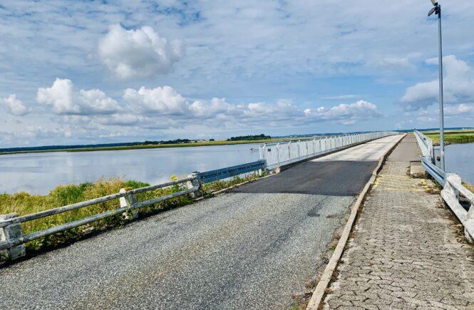 Dæmningen fra Møn til Nyord